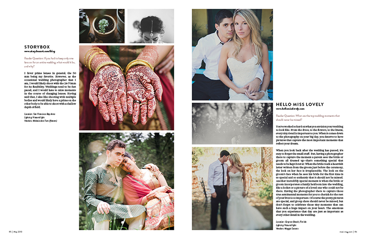 Mozi magaizine wedding issue